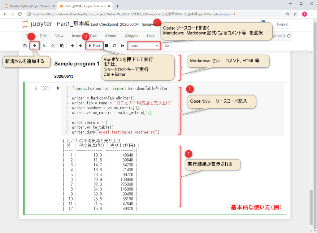 python_IDE_JupyterNotebook Basic_Usage
