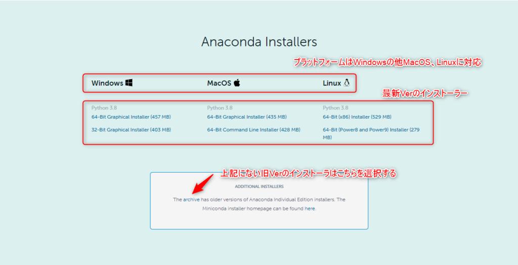 Anaconda_のダウンロード方法