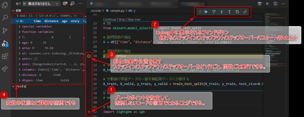 VScodeでPythonと連携_Debug機能3