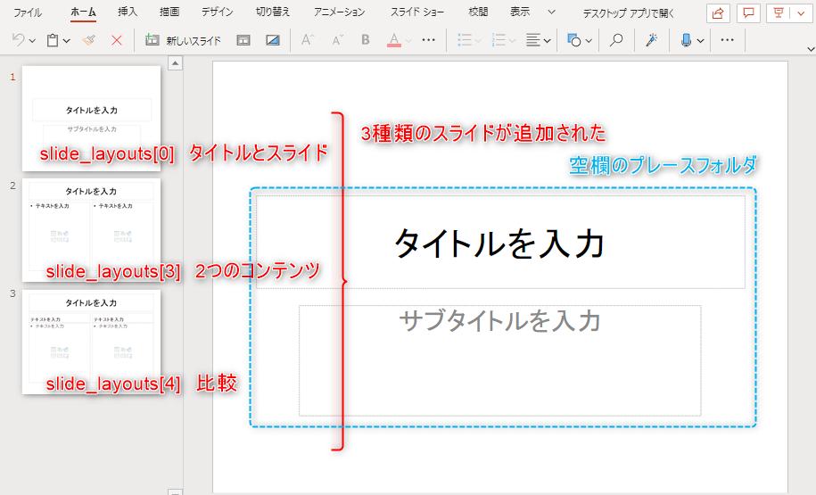 スライドの追加のイメージ