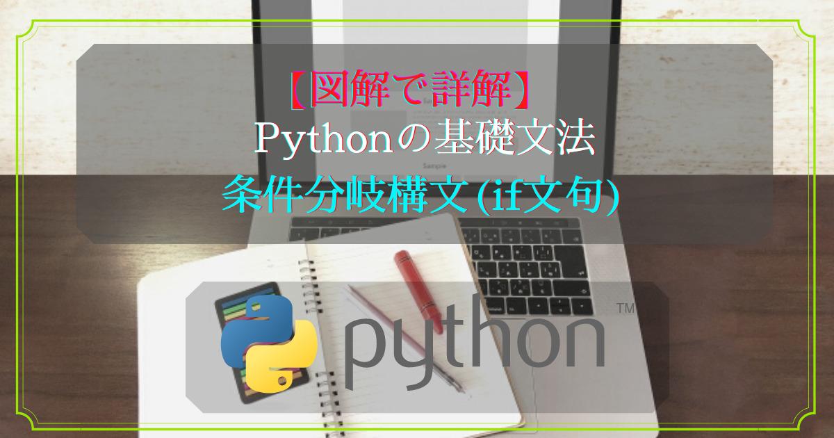 Pythonの基礎文法(条件分岐編)
