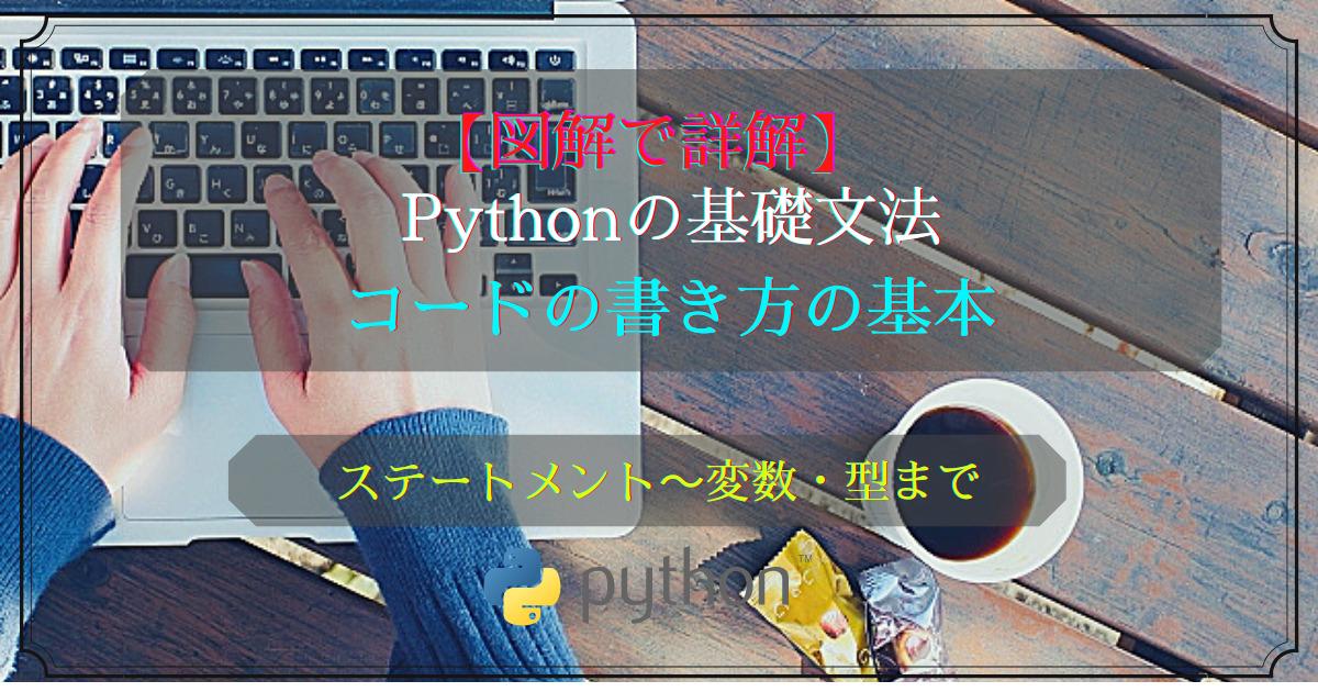 Pythonの基礎文法(コードの書き方)